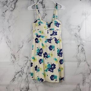 AEO Sweetheart Floral Midi Smocked Dress